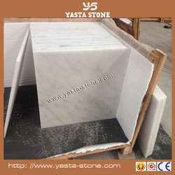 Waterproof function white marble tiles lowes polished marble tile for bathroom flooring