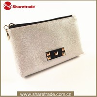 Hot sale shiny promotional travel designer pu leather cosmetic make up pouch bag