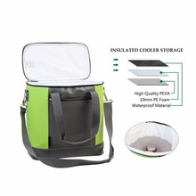 20 CAN Insulated Cooler Bag Large Lunch Tote Bag-Outdoor Picnic Box-Collapsible Thermal Travel Coolers Carrier for Camping