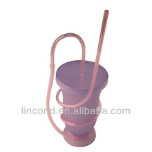disposable plastic drinking cup making machine with lid and straw
