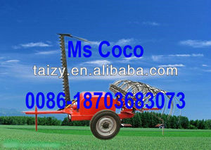 Cutting and raking machine for grass//0086-18703683073