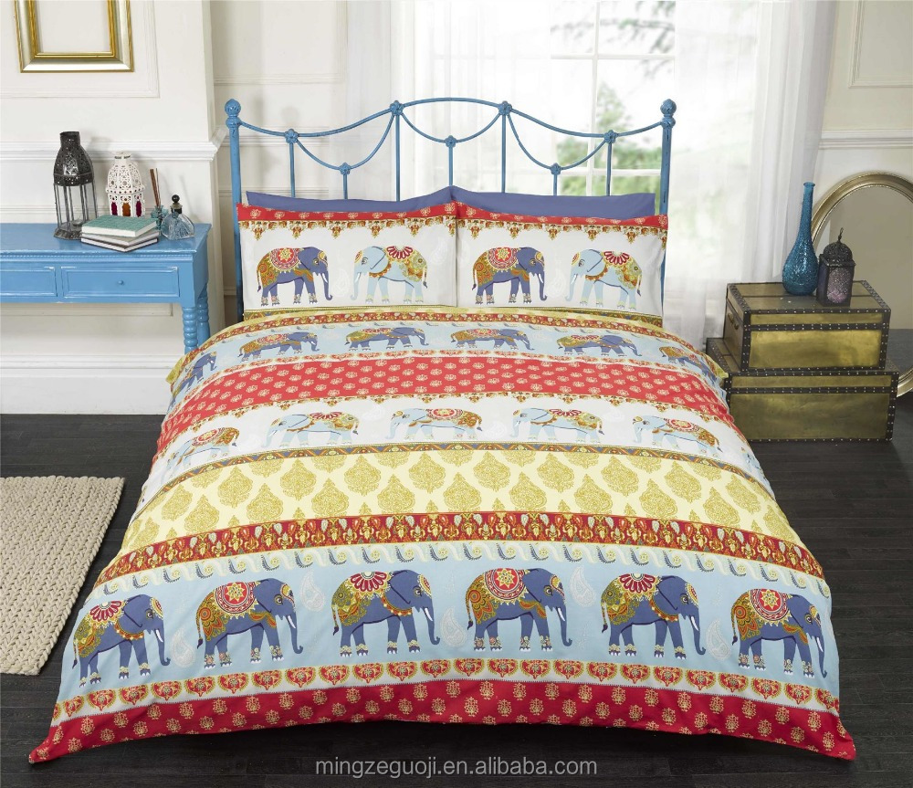 Indian traditional culture theme based design bedding sets 100% cotton