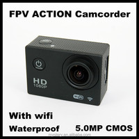 H.264 foramt 1080P FULL HD 12.0M Mega Pixels FPV ACTION Camcorder with wifi (waterproof)