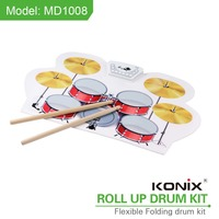Electric Drum Kit USB MIDI Roll Up Drum Kit Musical Instrument Drum Set with MIDI Function