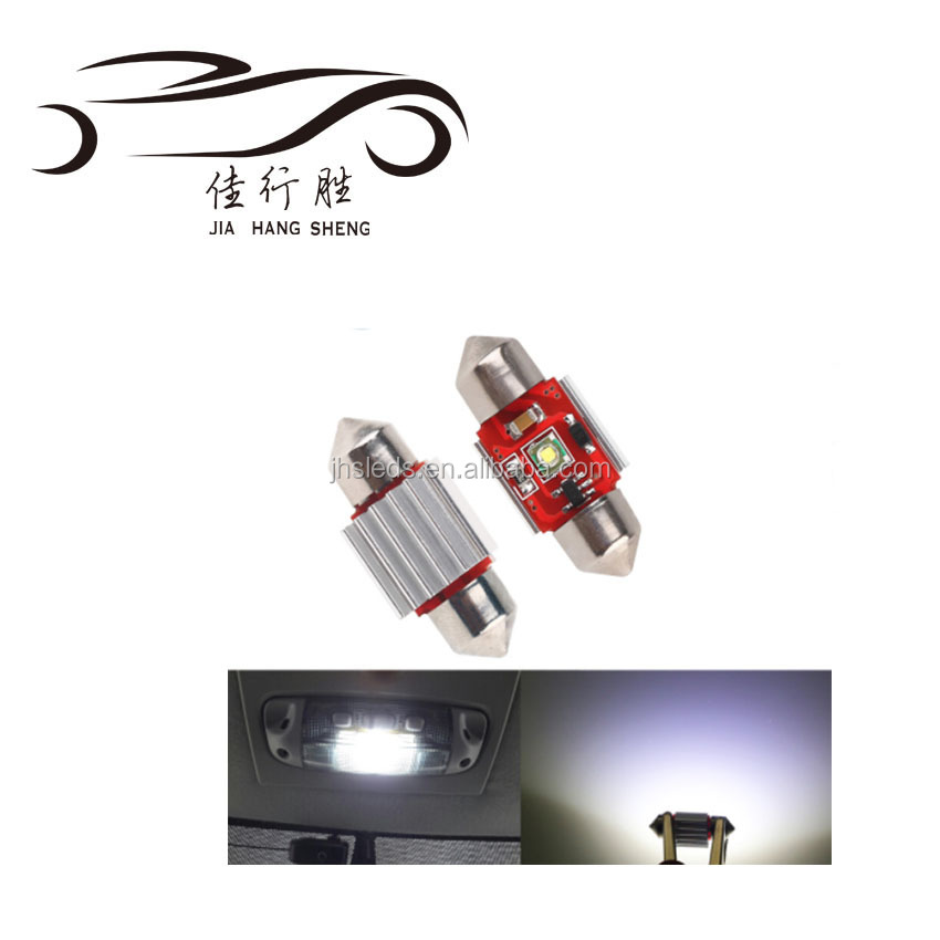 Super White Car Festoon 1smd Crees Chip Bulb 5W 12V Car LED Lighting Lamp Interior Dome Reading Lights 31mm/36mm/39mm/41mm