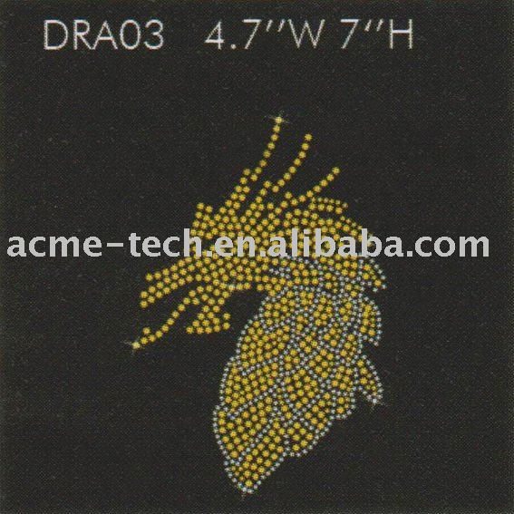 iron on rhinestone transfers in dragon Designs