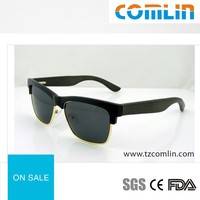 Drop Ball Certificate Plastic Frame and Bamboo Sunglasses Eyewear 2016 High Quality