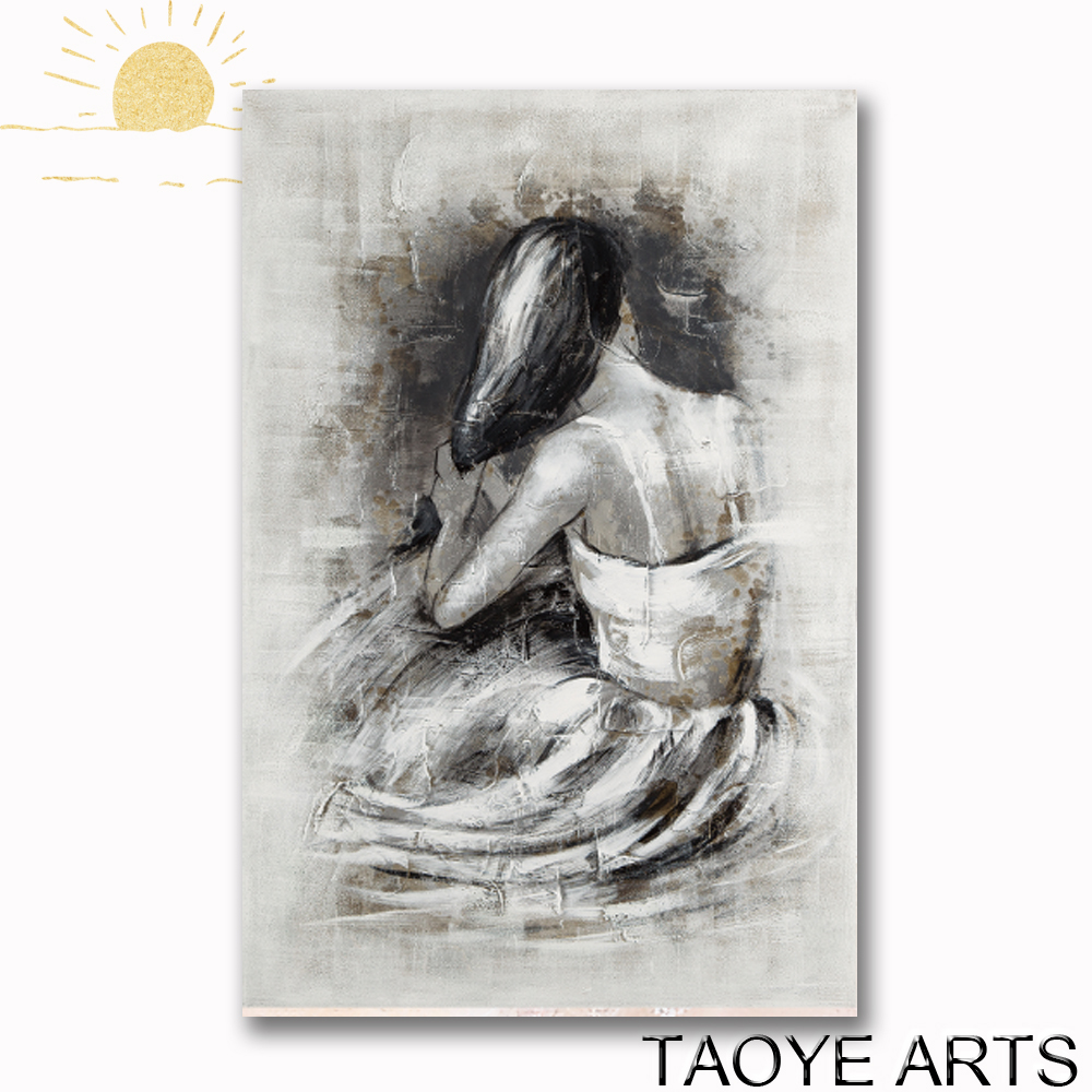 Best sell women painting for wall decor womens oil painting hot sex images