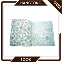 Custom new design fashion softcover coloring blank drawing books