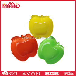 Apple shaped high quality candy color melamine candy plate