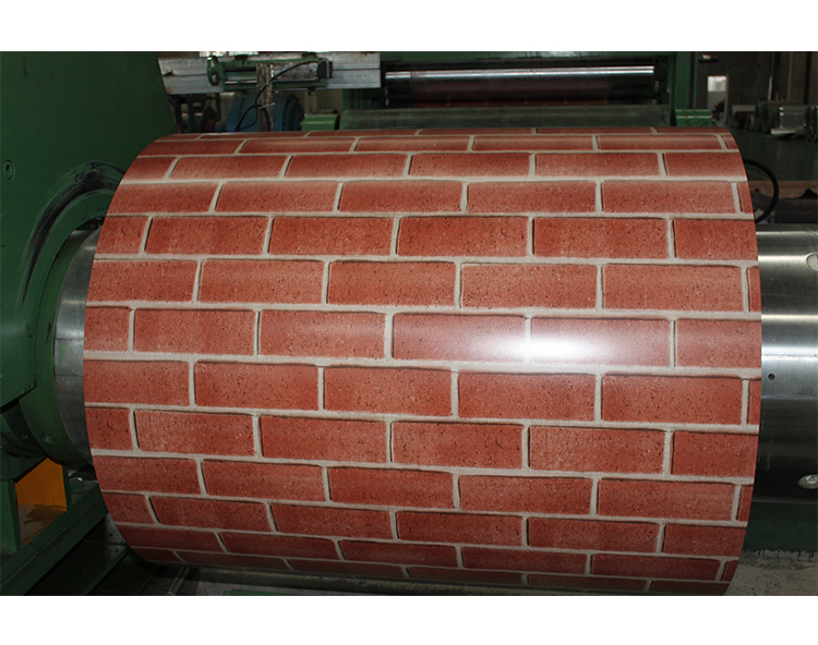 Brick pattern zinc alloy roofing sheet reflect sunlight and corrosion resistant