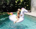 Giant inflatable water toys swimming pool inflatables big swan floats for the pool Inflatable floating for sale