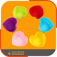 Custom Rubber Colorful Kitchen Silicone Cake Cups Mold for Baking