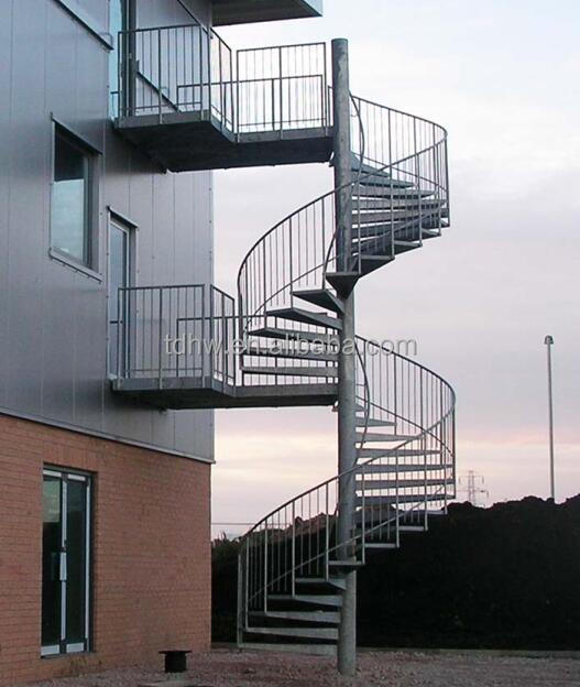 escape fire spiral staircase/wrought iron spiral stairs/hot galvanized spiral stair
