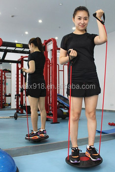 NANTONG WAX SPORTS Fitness PP Balance Board With Expander,round balance disc,step Balance for gym