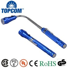 Extendable/Telescoping 3 LED Work Light Flashlight and Magnetic Pickup Tool with Flexible Neck