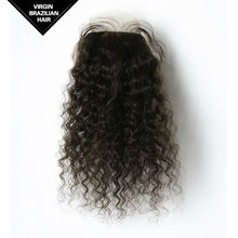 100 Virgin Hair 10-22 Inch Natural Color Most Durable Brazilian Human Silk Base Lace Closure For Black Women