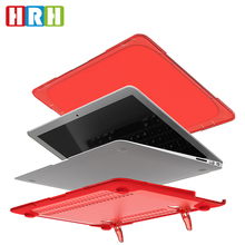 Matte PC And TPU Hard Case Cover with Stand for Macbook Air Pro Retina 11 13 15