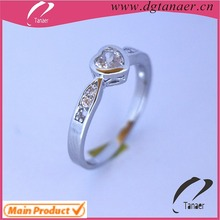 Fashion zircon crystal ring wholesale jewelry stainless steel finger rosary ring