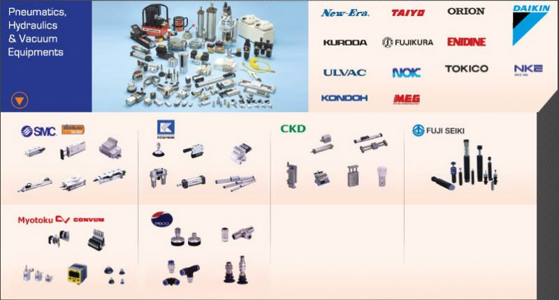 Pneumatic, hydraulics and Vacuum equipments