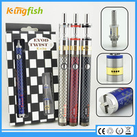 New starter kit 1.5ohm atomizer evod twist 3 m16 battery 18350 cool fire 2 for china wholesale