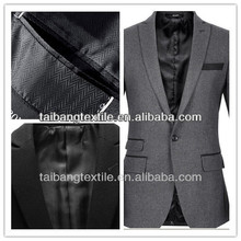 italy 100 % POLYESTER MEN SUIT HERRINGBONE FABRIC
