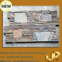 Autumn flame massive style fireplace stone cladding