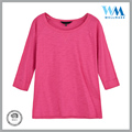 BSCI fty unisex short slves durable 100 ctn pink tshirt