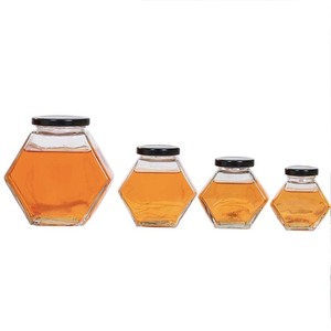 380ML Glass Honey Jar With Screw Cap lid