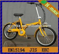 X-EB46 20'' 250W city style Aluminum small folding best electric bike reviews 2013 with speed sensor