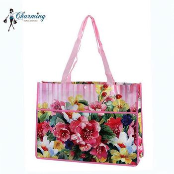 Top fashion trendy style beautiful flower pattern promotional gift non woven bags
