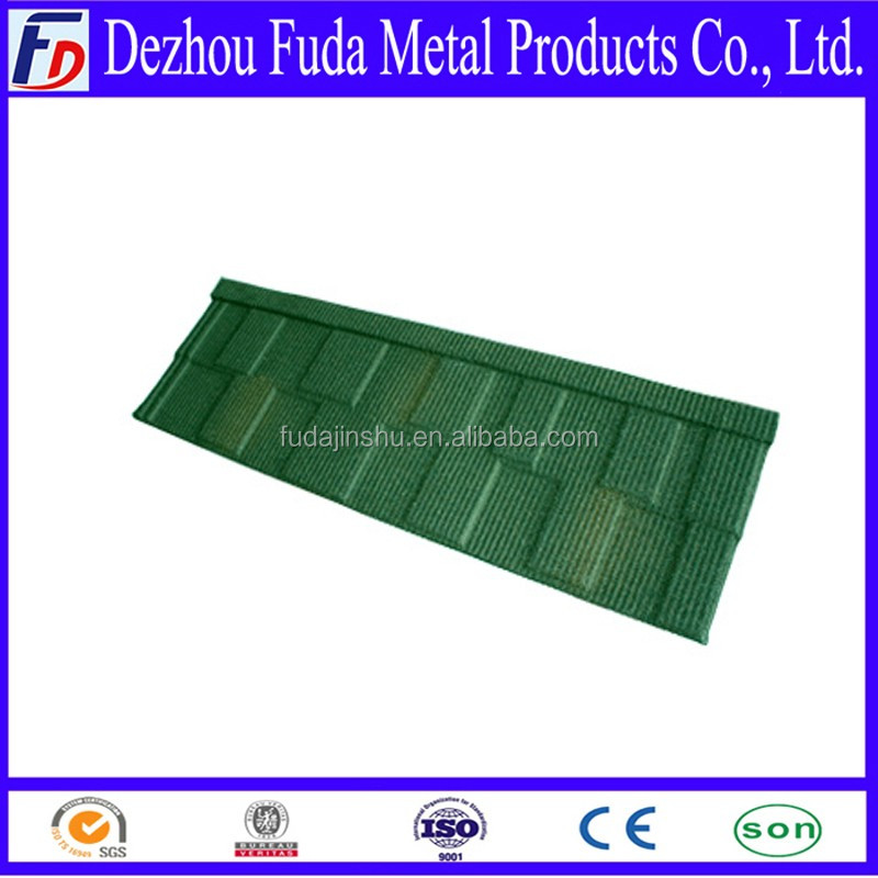 Chip Metal Roof Dezhou Fuda Types Of Stone Coated Metal Steel Roof Tiles
