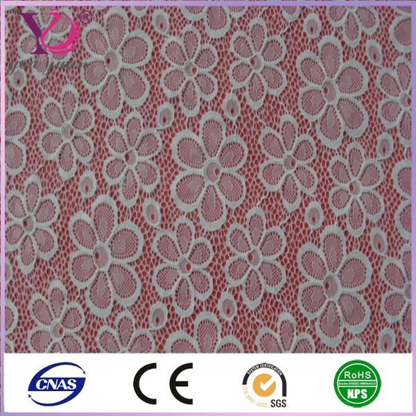 High quality guipure lace complex fabric with flower for wedding dresses