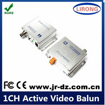 UTP 1-channel BNC Video Balun,Active Video Balun For CCTV