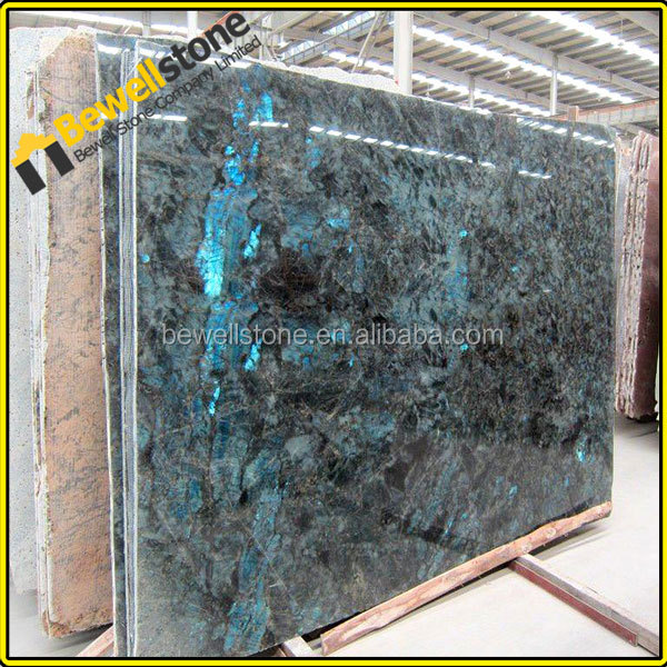 Prefab slab labradorite, beautiful granite labradorite blue slab