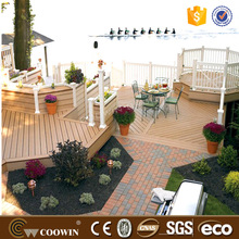 anti-fading wood composite decking wpc patio floor coverings