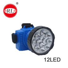 RL-1024 led head lamp 12 led rechargeable battery/led light/moving head light/led head torch/ led head flashlights/camping/CE