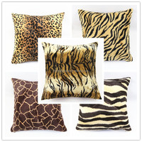 Latest Style Decorative Throw Pillow Case Velour Velvet Animal Leopard Tiger Print Sofa Cushion Cover Wholesale HT-PCJC-A-01-05