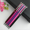 aluminum promotional printed metal mb style ballpoint pen with cut rings