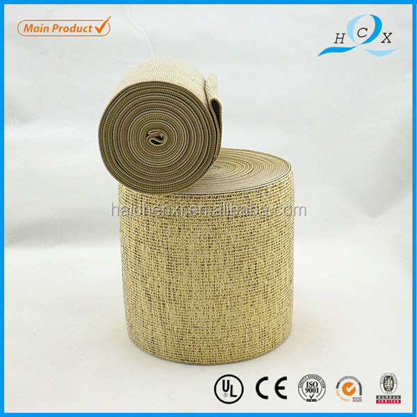 Factory Direct Colorful elastic golden weaving ribbon webbing