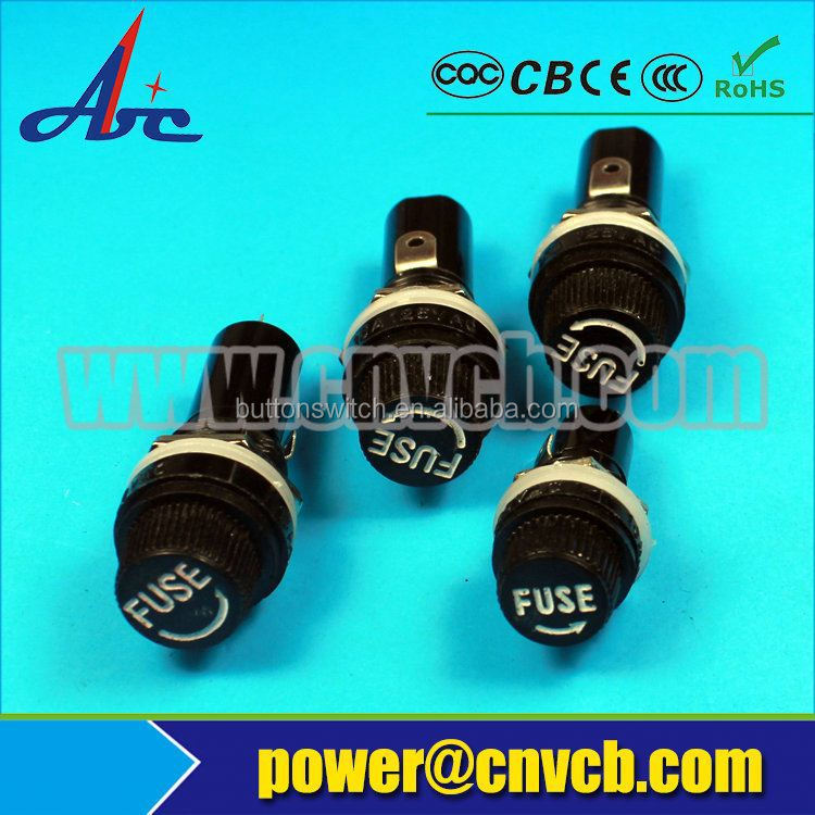 Patented product min,mid,maxi fuses fit accurately new rubber+ceramic 20a fuse holder bakelite cylindrical fuse holders