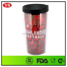 16oz insulated double wall acrylic tumbler with removable insert
