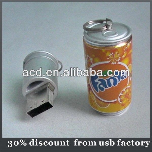 30% discount coke can shape usb flash disk 8GB