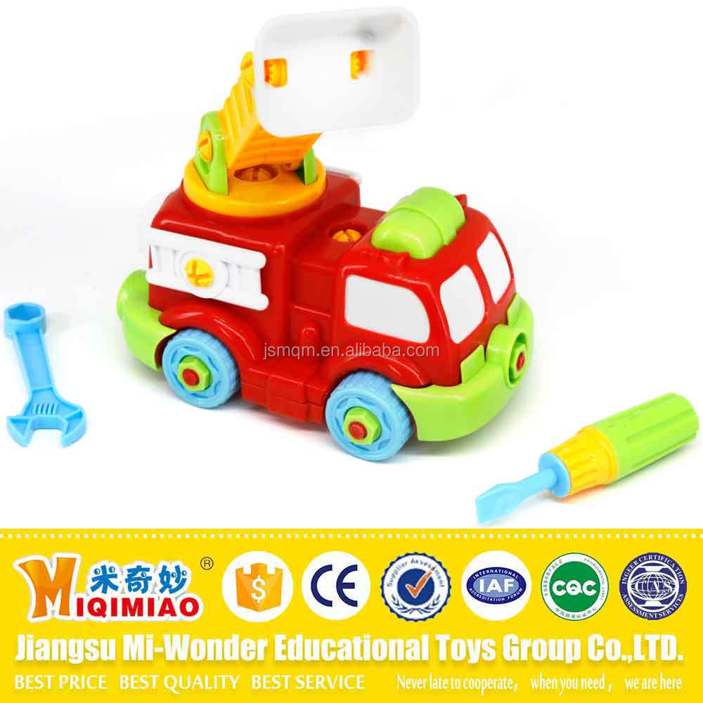 Small ABS plastic assembling car toys animal toys for kids