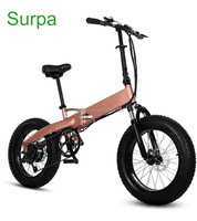 350w 500w 750w brushless motor folding fat tire electric bike/e-bicycle/foldable ebike