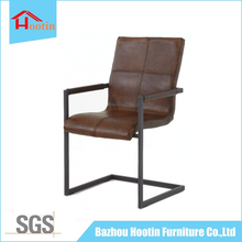 Modern Luxury New Design Cheap Classic PU Brown Leather Metal Frame High Back Home Comfortable Executive Armrest Office Chair