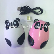 shenzhen factory cute animal mice lovely mini child mouse charging wireless panda 3d mouse