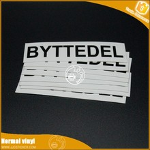 0.12mm S6 water proof chrome 3d sticker