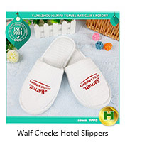 Terrycloth Hotel Slippers / Disposable Towelling Non-woven Fabric Indoor Slippers / Custom Towel Cloth Dotted Fabric Slippers