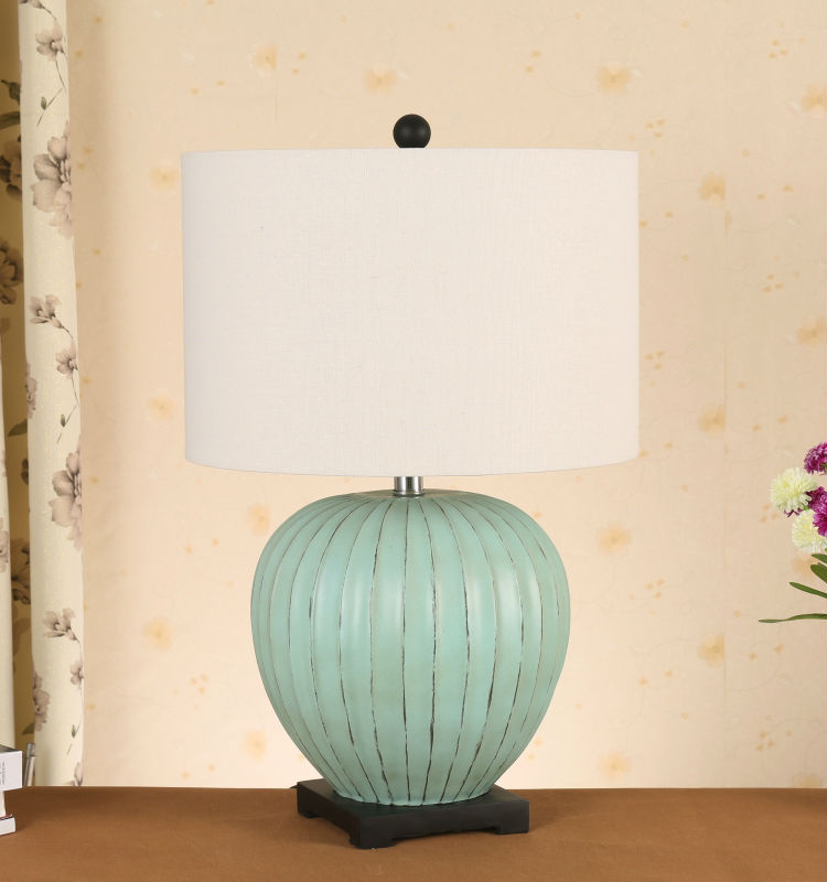 wholesale alibaba korean fashion/style light blue pumpkin ceramic table lamp for home decor